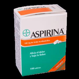 Aspirina para niños, 100 mg de Ácido acetilisalicílico, 100 tabletas
