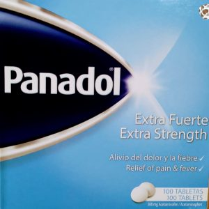 Panadol Extra Fuerte, 500 mg Acetaminofén, 100 tabletas