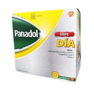 Panadol Gripe Día, Contiene Acetaminofén, 52 tabletas
