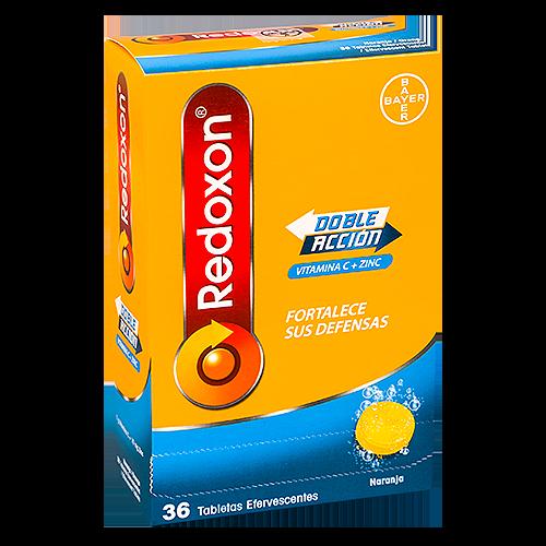 Redoxon para fortalecer las defensas, 36 tabletas efervescentes sabor naranja