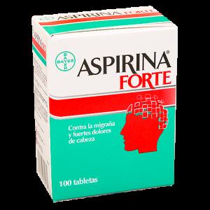 Aspirina Forte, Contra la migraña y fuertes dolores de cabeza, 100 tabletas