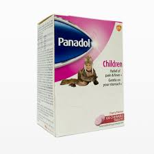 Panadol Children, Contiene Acetaminofén 80mg por tableta masticable, Sabor a Cereza, 100 tabletas masticables