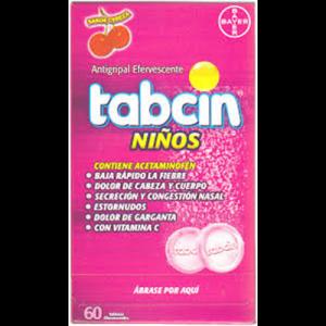 Tabcin Niños sabor Cereza, 60 tabletas efervescentes